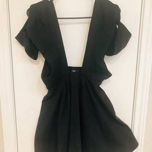 Black ASOS Mini Dress with Plunging Front and Back